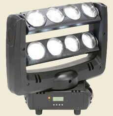 Led Double Row moving head spider light White Color